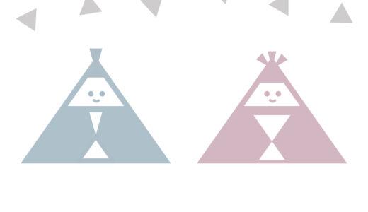 ひなまつり、三角だけで描く簡単な雛人形